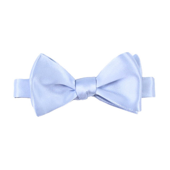 Powder Blue Silk Self Tie Bow Tie