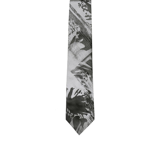 black grey silver classic tie by german valdivia