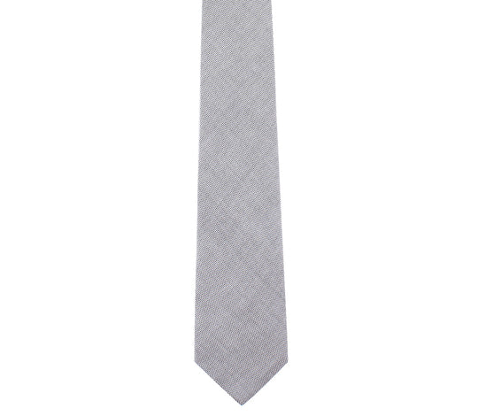 grey pinpoint oxford tie by german valdivia