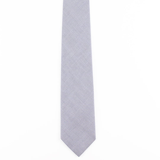 blue grey cotton pinpoint oxford classic tie by german valdivia