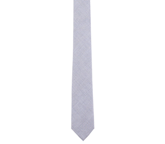 blue gray cotton pinpoint oxford skinny tie by german valdivia