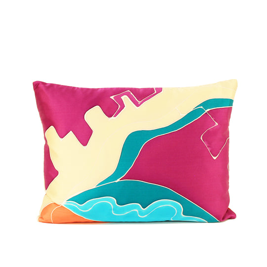Handpainted Silk Decorative Pillow