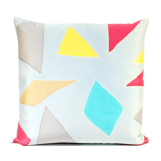Diamonds Handpainted Silk Decorative Pillow