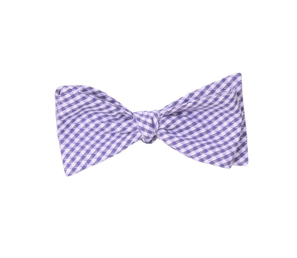 Lavender Gingham Bow Tie