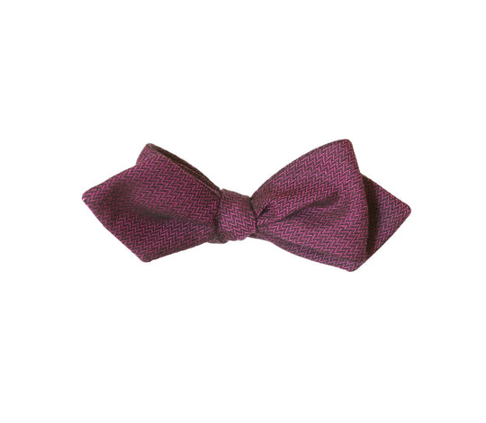 Magenta Diamond Tip Bow Tie