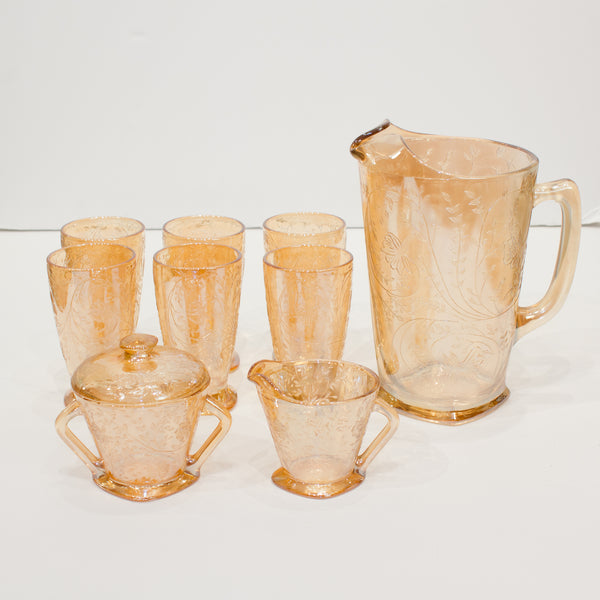 Mid-Century Pitcher and Glasses Set