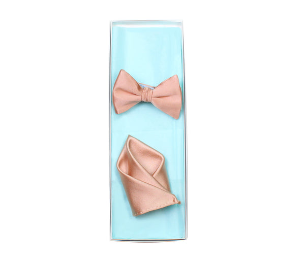 732358d4a8c92 Rose Gold Bow Tie and Pocket Square – German Valdivia - Official Online  Boutique