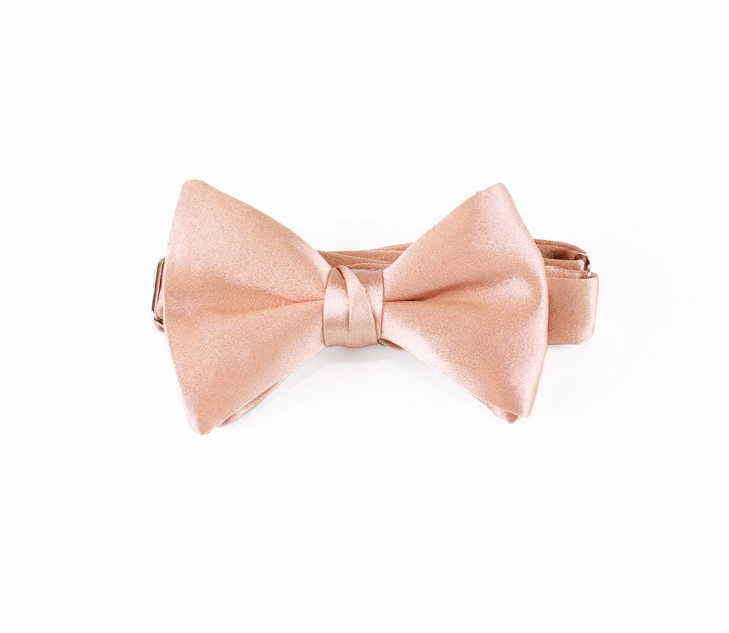 Rose Gold Bow Tie and Pocket Square