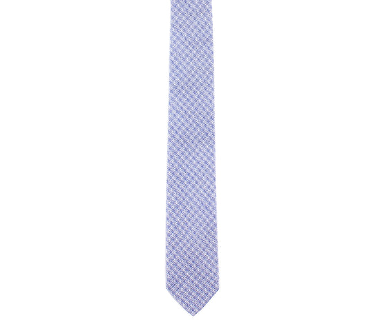 blue white plaid skinny cotton tie by german valdivia