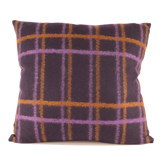 Plaid Wool Decorative Pillow