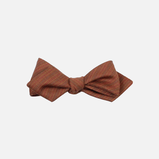 Brown Diamond Tip Bow tie