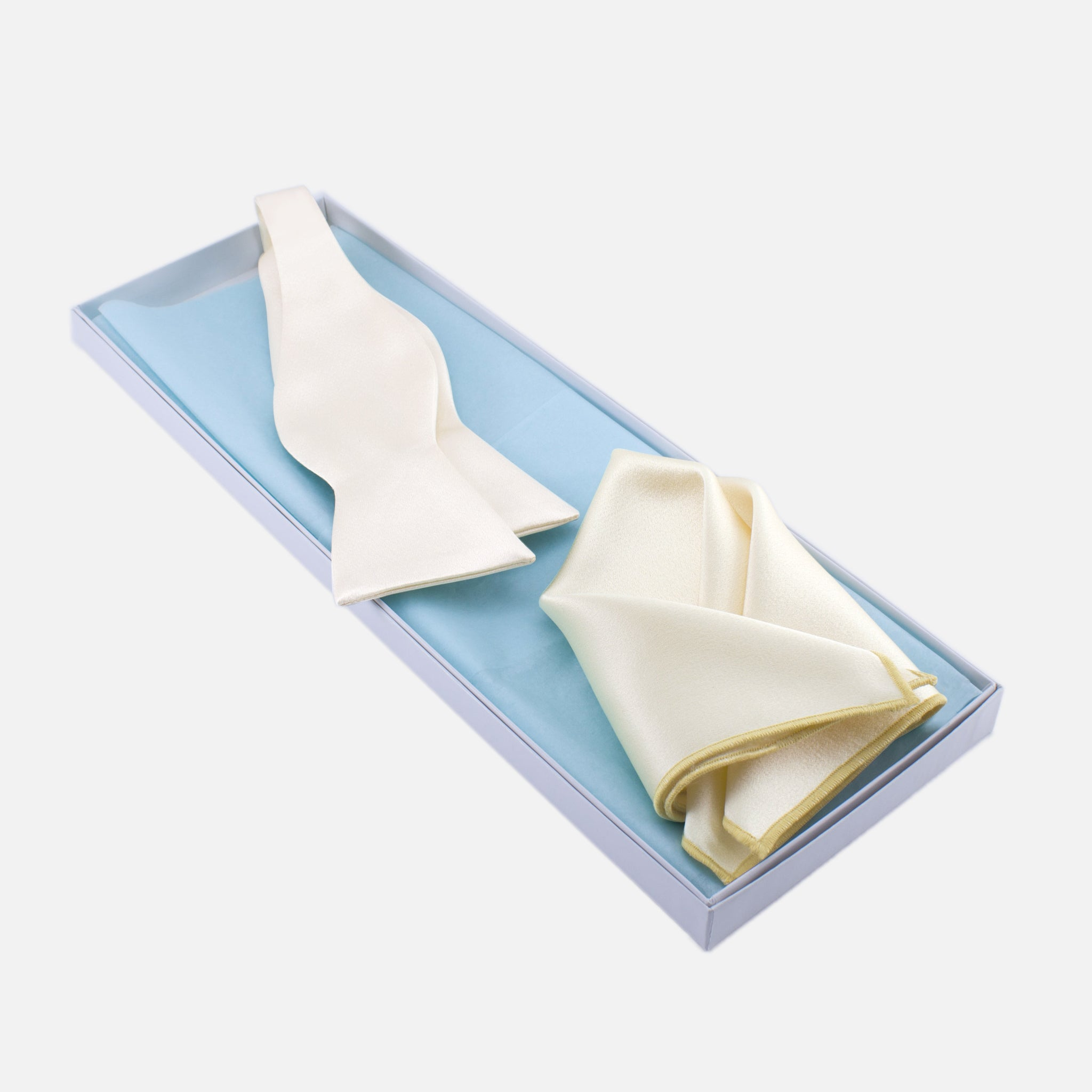 2df689be246c3 Ivory Bow Tie and Pocket Square – German Valdivia - Official Online Boutique