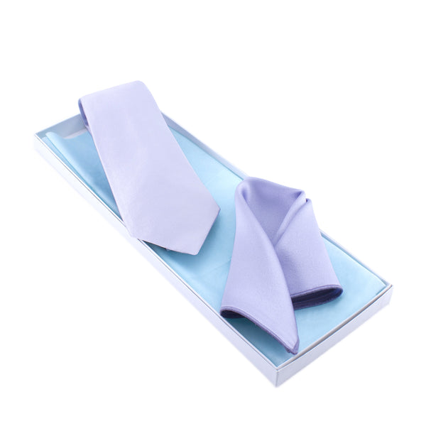 Lavender Tie and Pocket Square