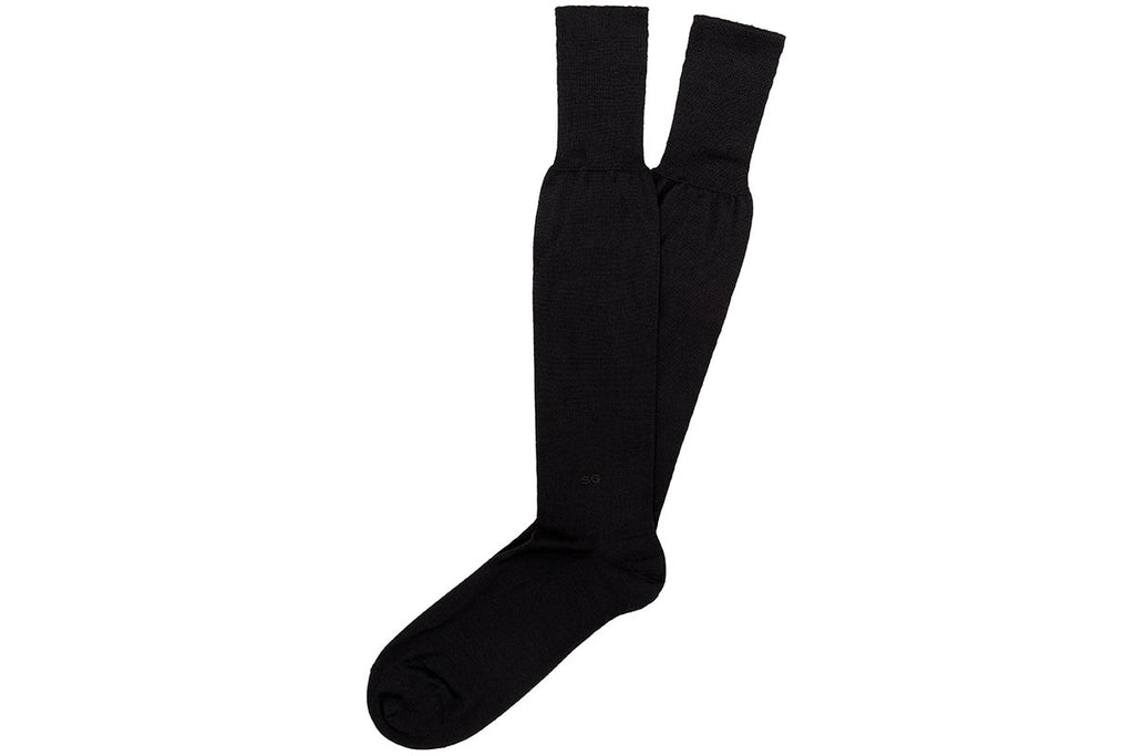 ALTHA CASHMERE BLACK SOCKS Socks Superglamourous