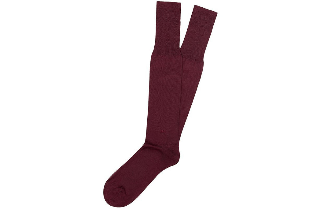 ALTHA SCOTIA BURGUNDY SOCKS Socks Superglamourous