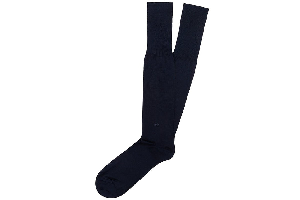 ALTHA SCOTIA NAVY SOCKS Socks Superglamourous