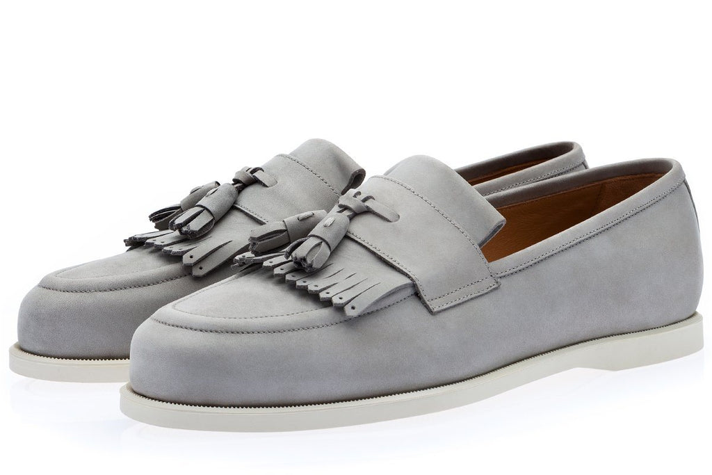 GIPSY NABUK GREY DECK SHOES Sneakers Superglamourous