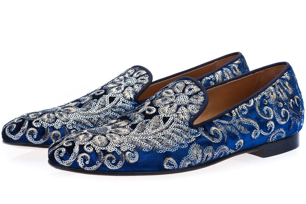 HARLEY AYAME NAVY SLIPPERS Slippers Superglamourous