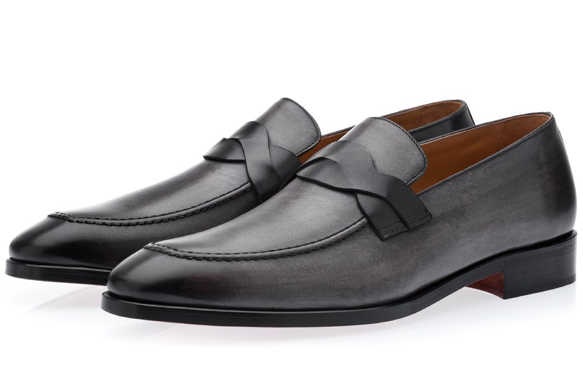 KINGMAN VINTAGE GREY LOAFERS Loafers Superglamourous