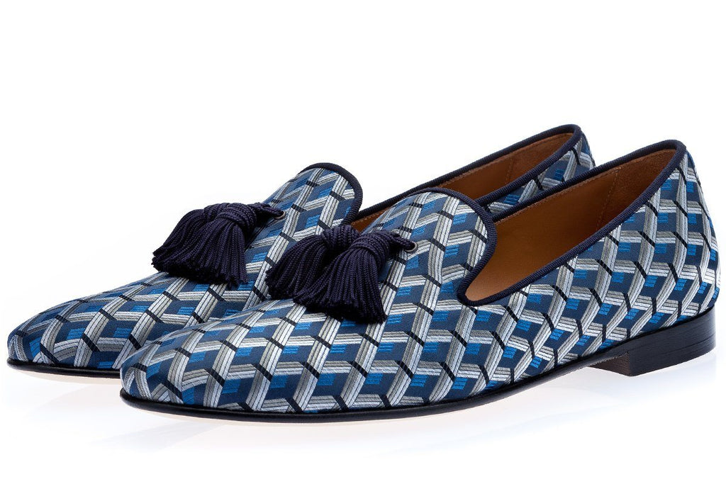 LOUIS LABARIA NAVY SLIPPERS Slippers Superglamourous