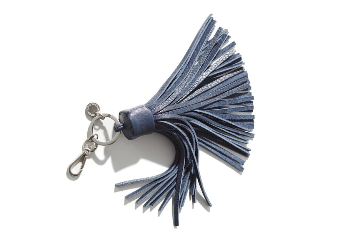 NAPPANEE GRAIN NAVY KEY RING