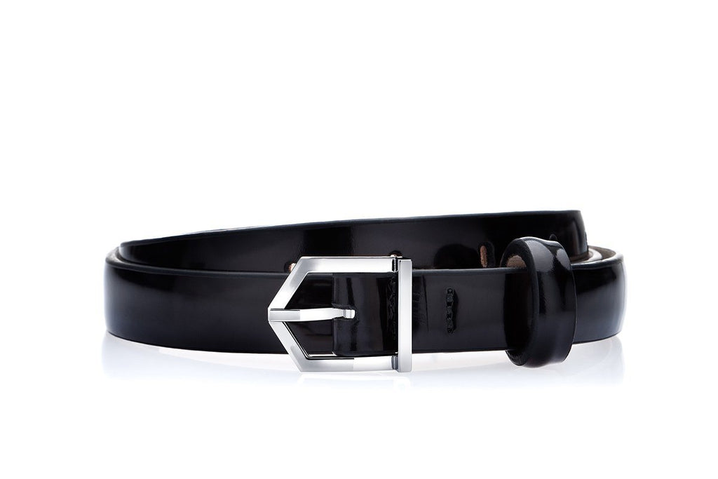 ODILON MINI BRUSHED BLACK BELT Belts Superglamourous