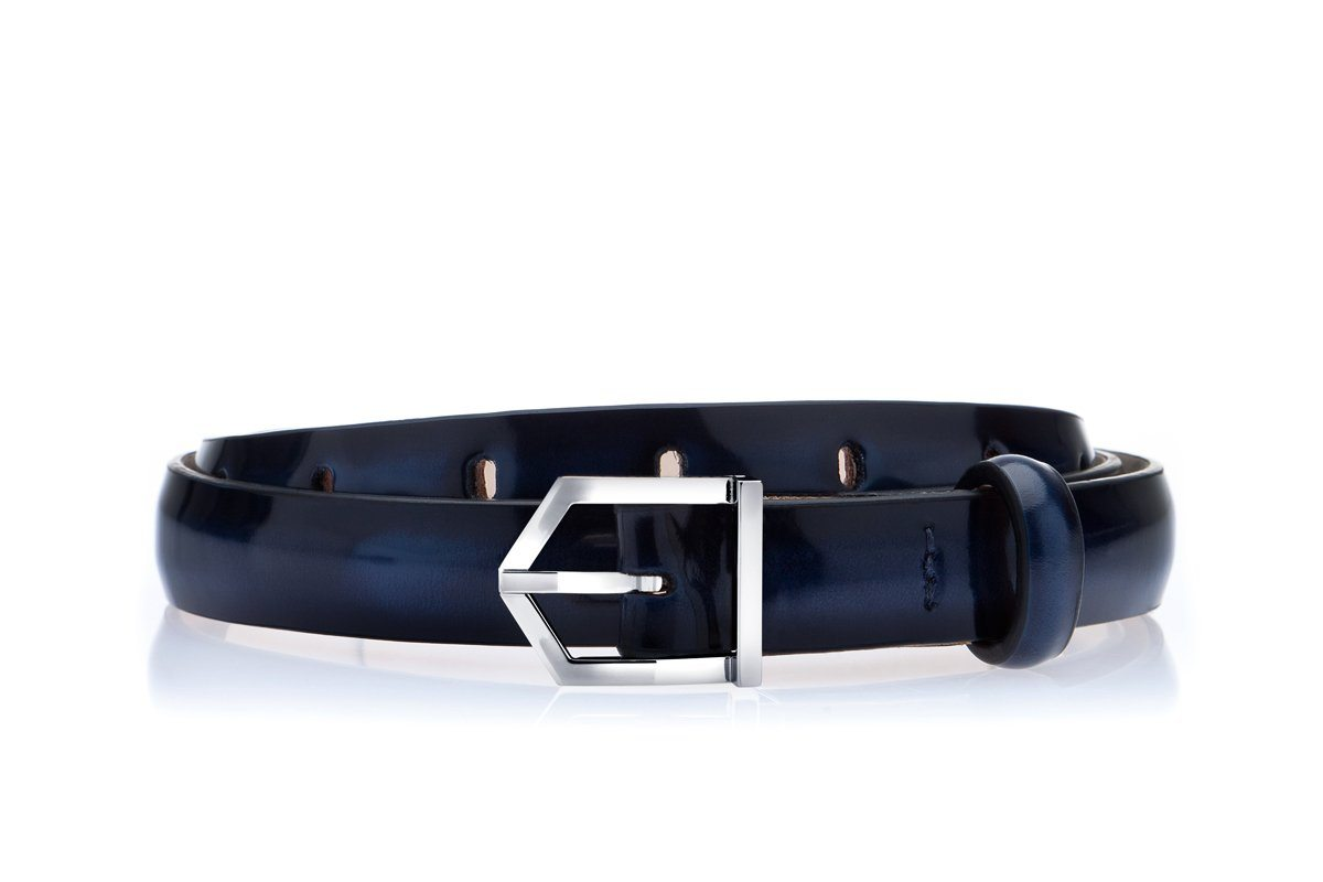 ODILON MINI BRUSHED NAVY BELT Belts Superglamourous