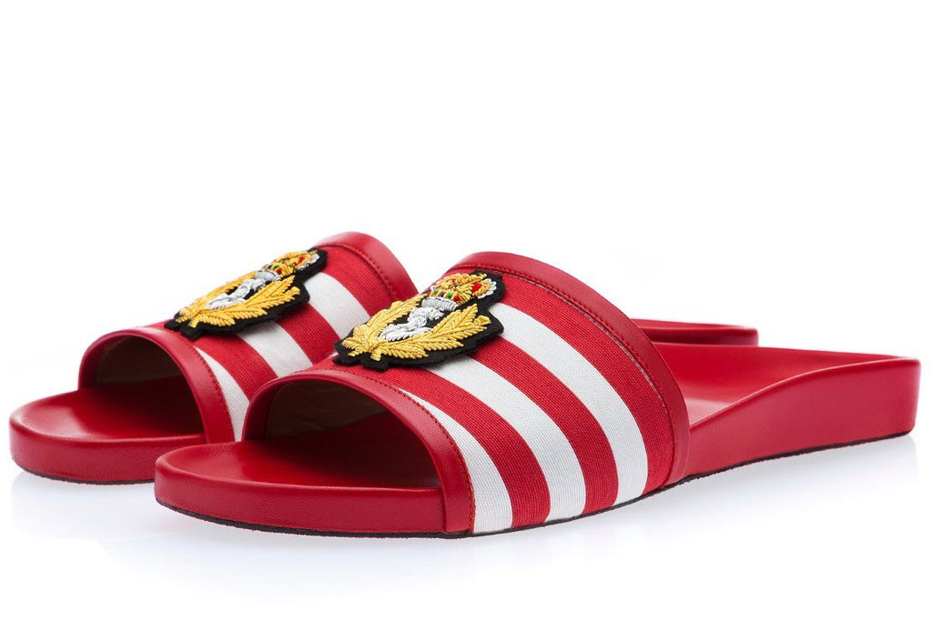 RAOUL PABLO RED SLIDES Slides Superglamourous