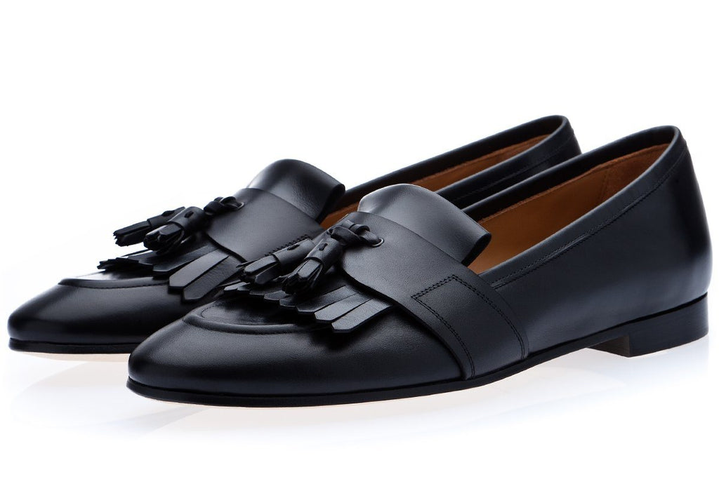 ROMEO TOLEDO BLACK LOAFERS Loafers Superglamourous