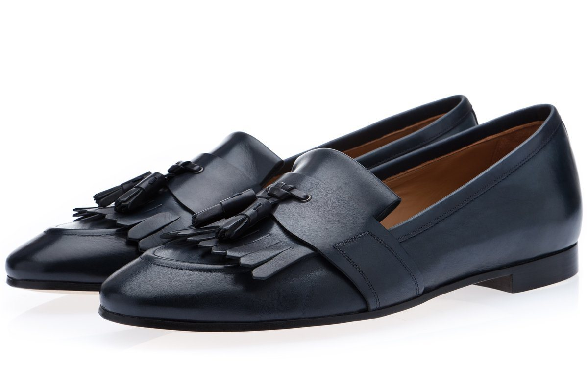 ROMEO TOLEDO NAVY LOAFERS Loafers Superglamourous