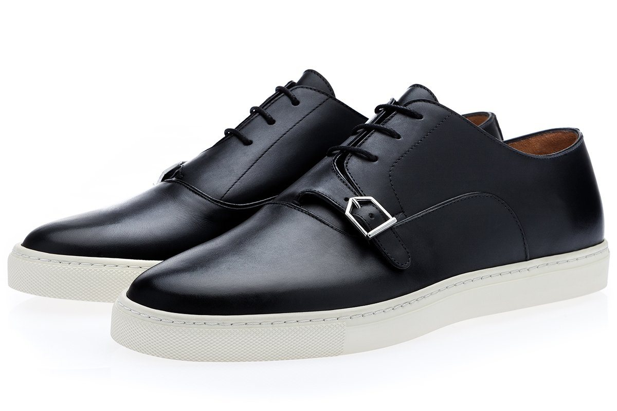 SANANTONIO NAPPA BLACK LOW TOP Sneakers Superglamourous