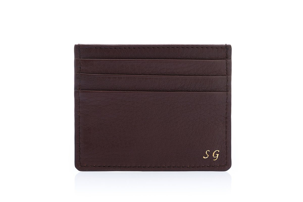 ANTIGUA GRAIN BROWN CREDIT Small Leather Goods Superglamourous