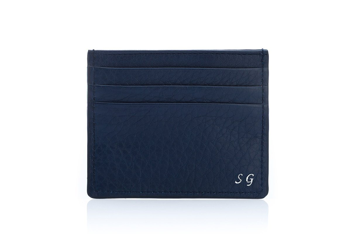 ANTIGUA GRAIN NAVY CREDIT Small Leather Goods Superglamourous