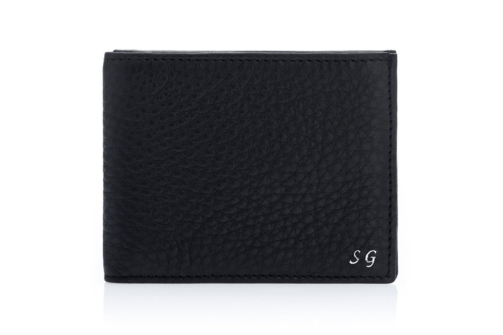 GUADALUPA GRAIN BLACK WALLET