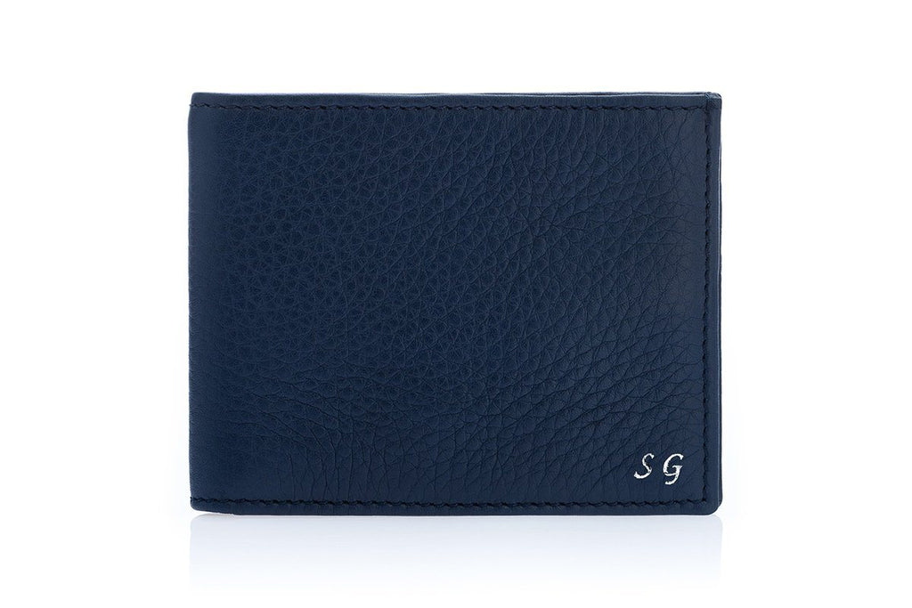 GUADALUPA GRAIN NAVY WALLET Small Leather Goods Superglamourous