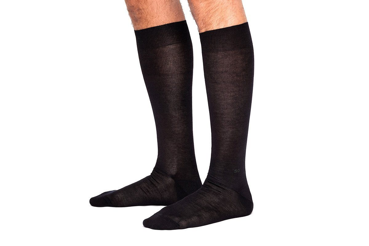 ALTHA SCOTIA BLACK SOCKS