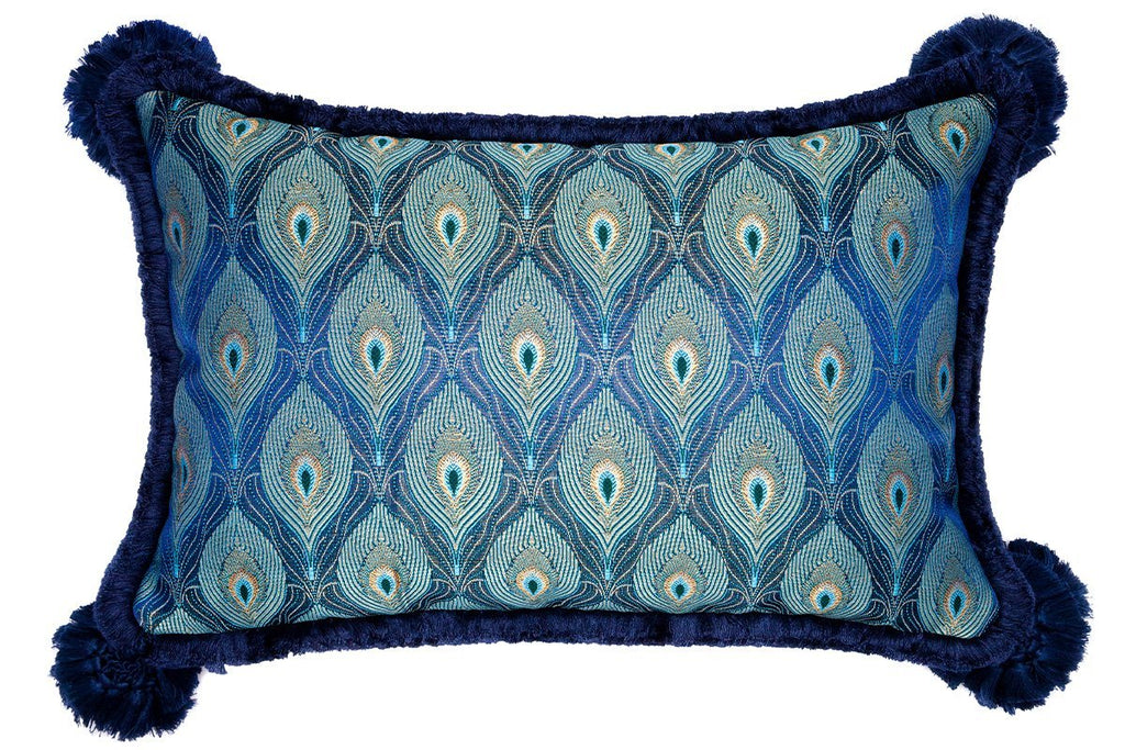 AMADORO PEACOCK NAVY CUSHION Cushions Superglamourous