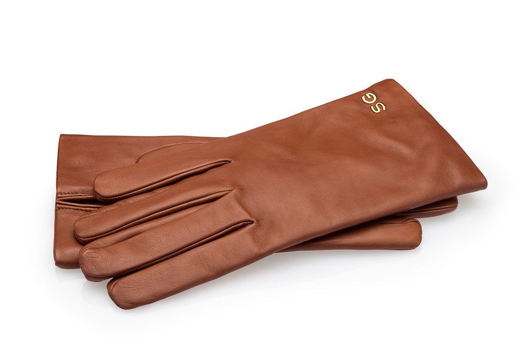 Handmade tan kid leather gloves
