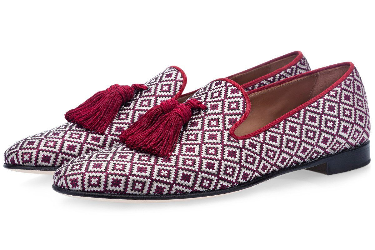 LOUIS BODRUM BURGUNDY SLIPPERS Slippers Superglamourous