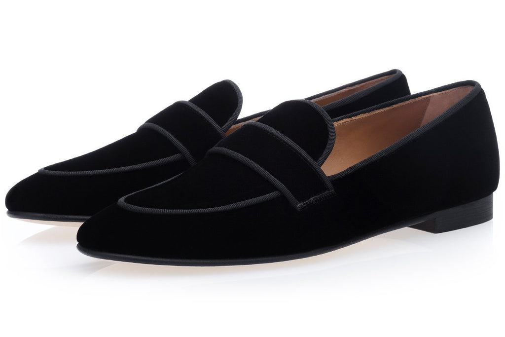 BOLERO VELOUR BLACK SLIPPERS
