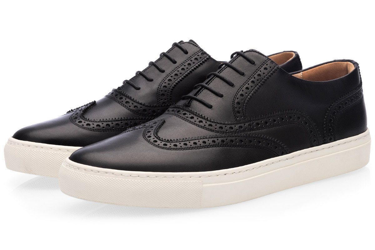 CASTOR NAPPA BLACK LOW TOP Private Sale Superglamourous
