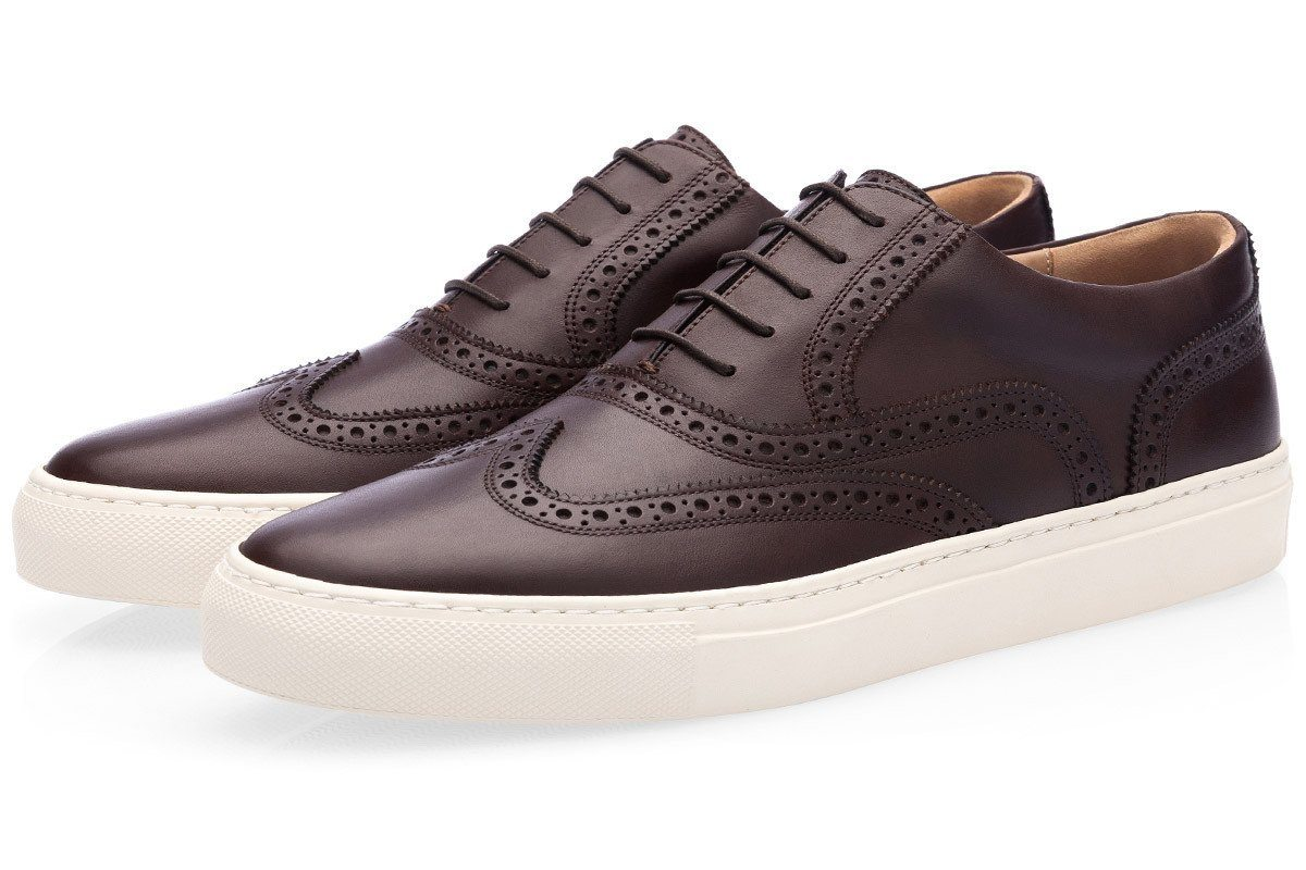 CASTOR NAPPA COCOA LOW TOP Private Sale Superglamourous
