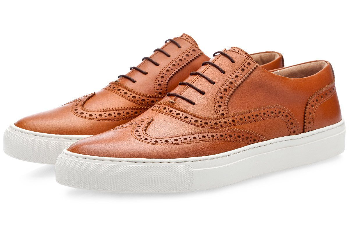CASTOR NAPPA COGNAC LOW TOP