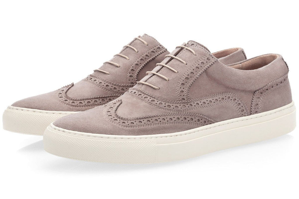 CASTOR VELUKID TAUPE LOW TOP