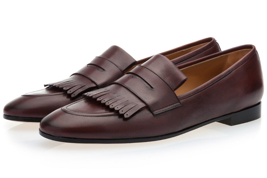 CESAR NAPPA BROWN LOAFERS Loafers Superglamourous