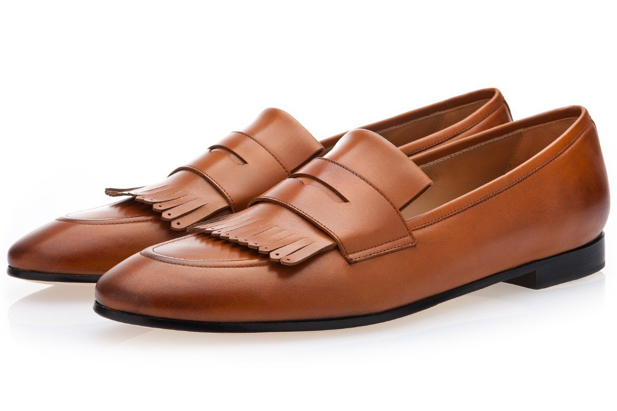 CESAR NAPPA COGNAC LOAFERS Loafers Superglamourous