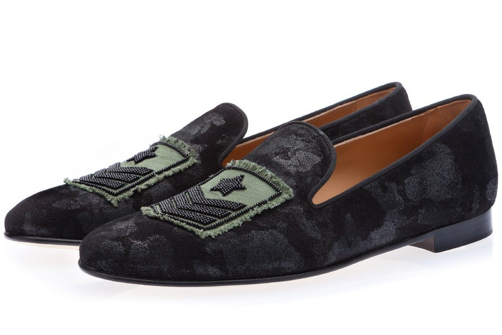 COLONEL MIMETIK BLACK SLIPPERS