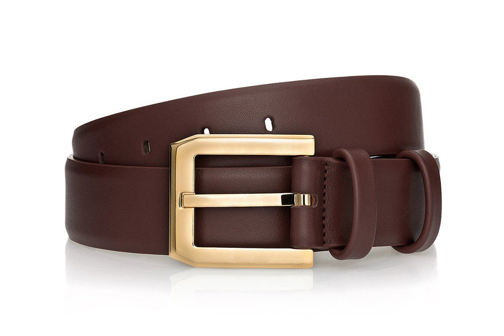 CREVÈL NAPPA BROWN BELT