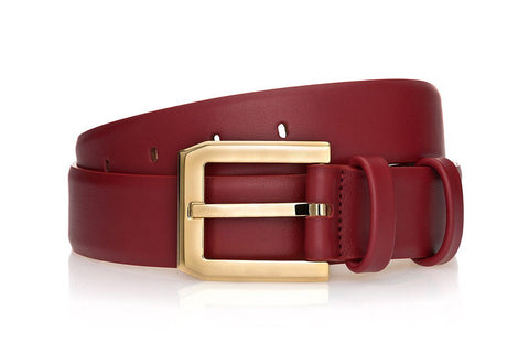 CREVEL NAPPA MARSALA BELT Belts Superglamourous