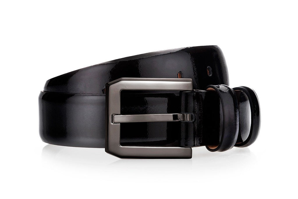 CREVEL PATENT BLACK BELT Belts Superglamourous